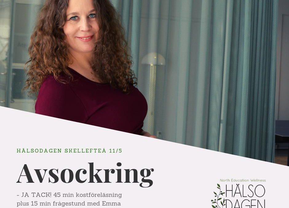 Föreläsning Avsockring, ja tack! på Hälsodagen Skellefteå