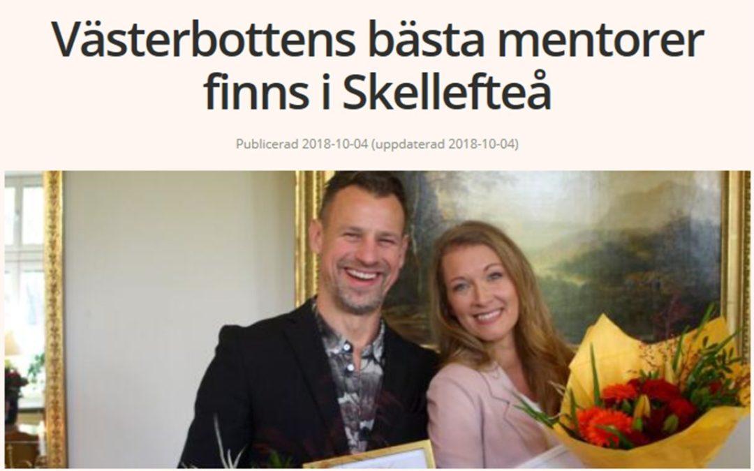 Livsfabrikens mentor årets mentor i Västerbotten 2018
