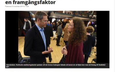 Folkbladet: Hemvändande Emma ser fabriken som en framgångsfaktor