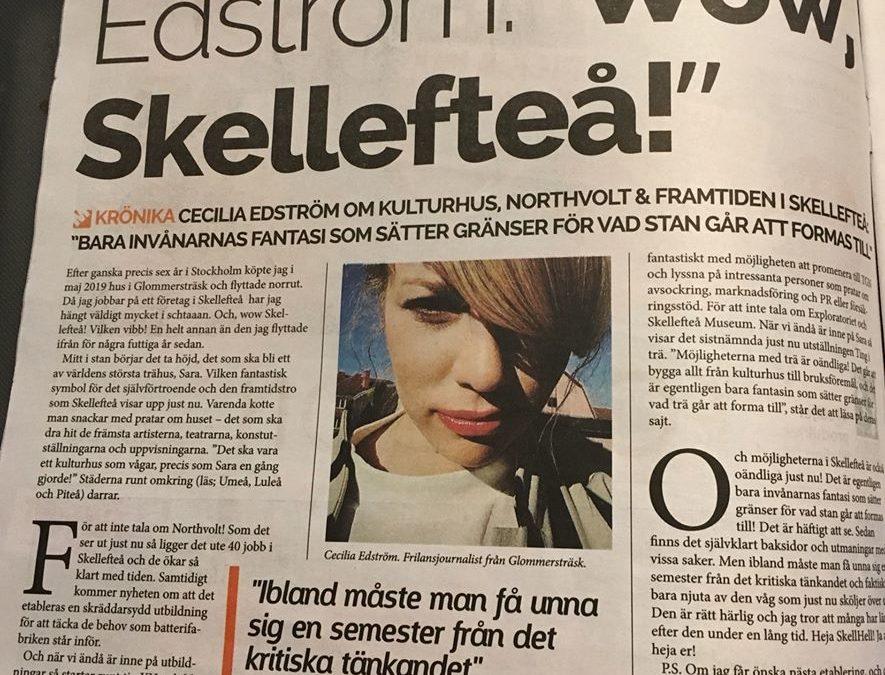 """""""Wow, Skellefteå"""" om avsockringskurser mfl"""